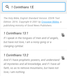 Bible search results