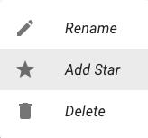 Star menu option