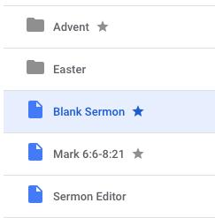 Starred sermon